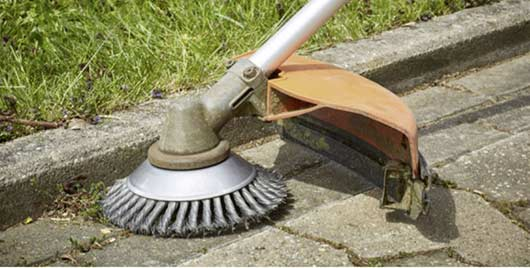 Brushes for grass trimmers